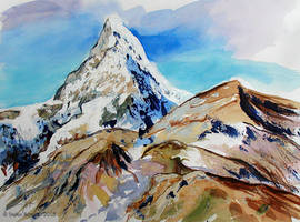 Snowcapped Horn by Art-deWhill