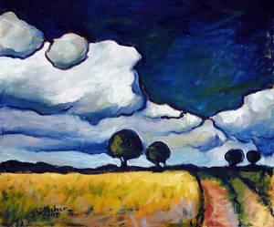 Landscape near Walsrode (Rising Thunderstorm)