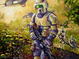 Clones at War -  Jungle Terrain by Art-deWhill