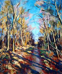 Weg im Fasanengarten (Path in the Woods) by Art-deWhill