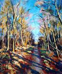Weg im Fasanengarten (Path in the Woods)