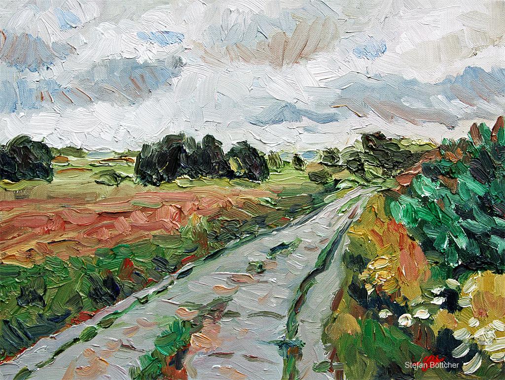 Cloud-shrouded Landscape - Wendland by Art-deWhill