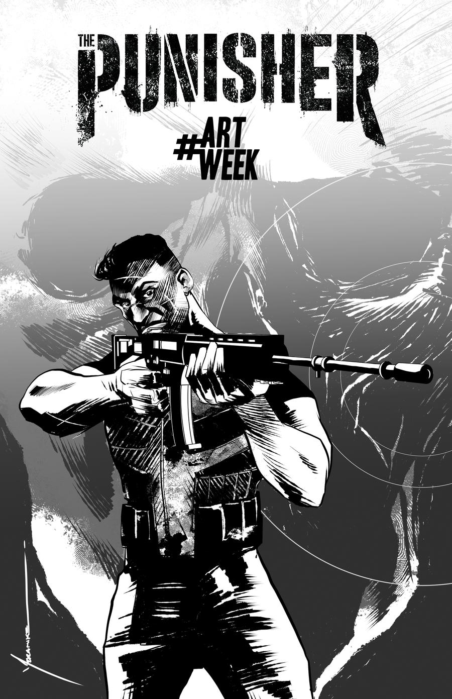 Punisher for #artweek by moramike