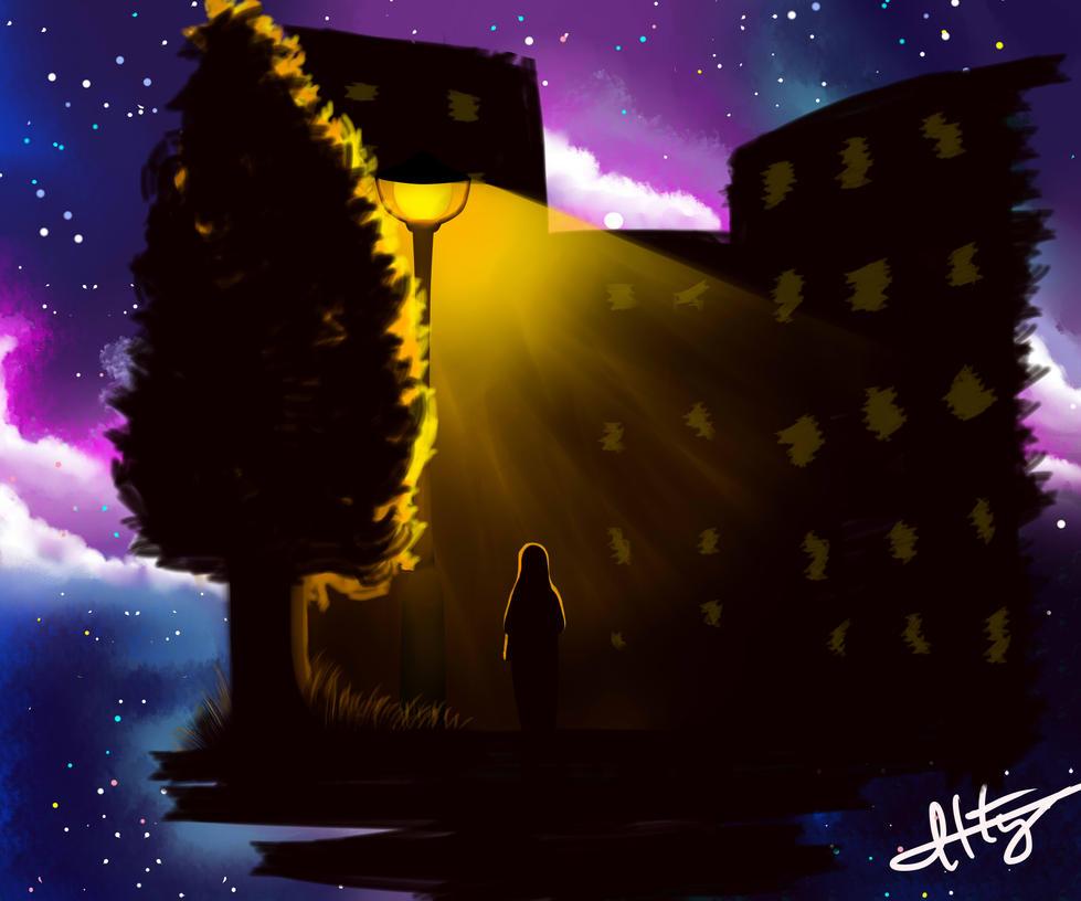 Night walk by Atterca