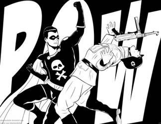 Black Terror: Nazi Punching by PhantomSkyler