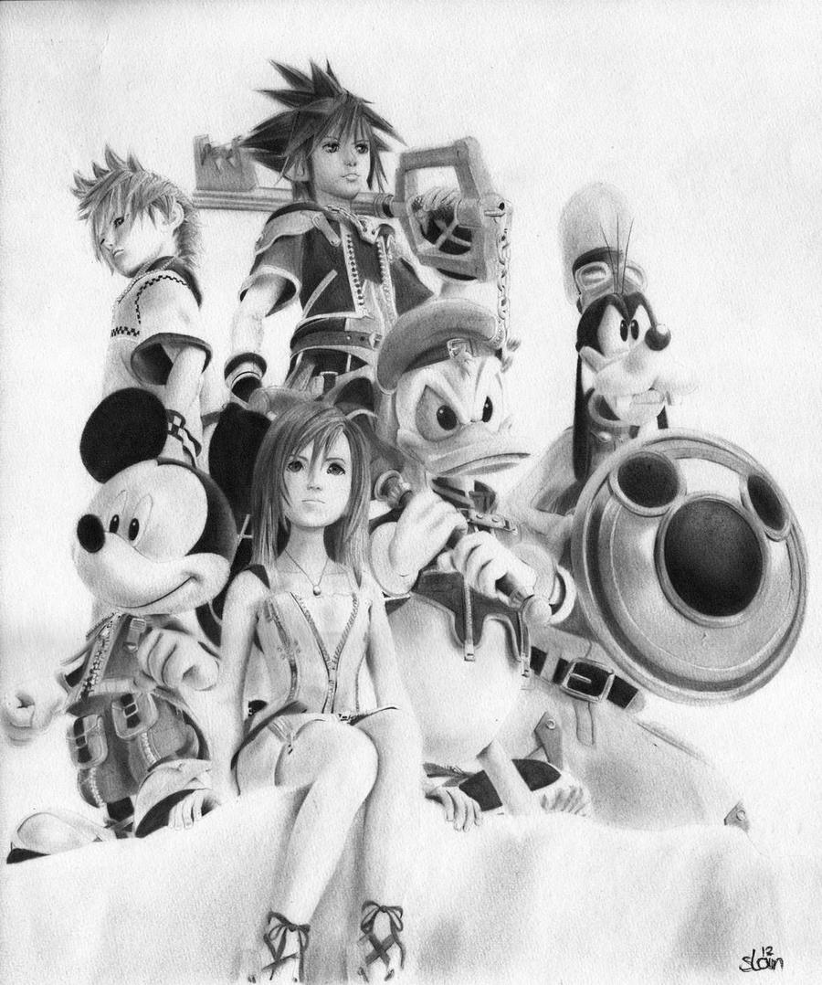 Kingdom Hearts 2 by slan-12