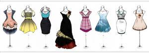 .More Dresses.