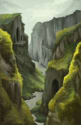 .Cliffside Temple.