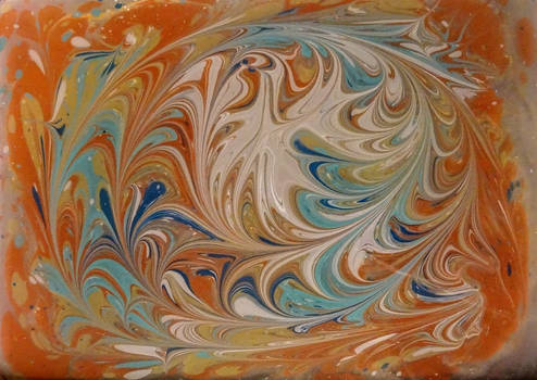 Painting in the Ebru technique