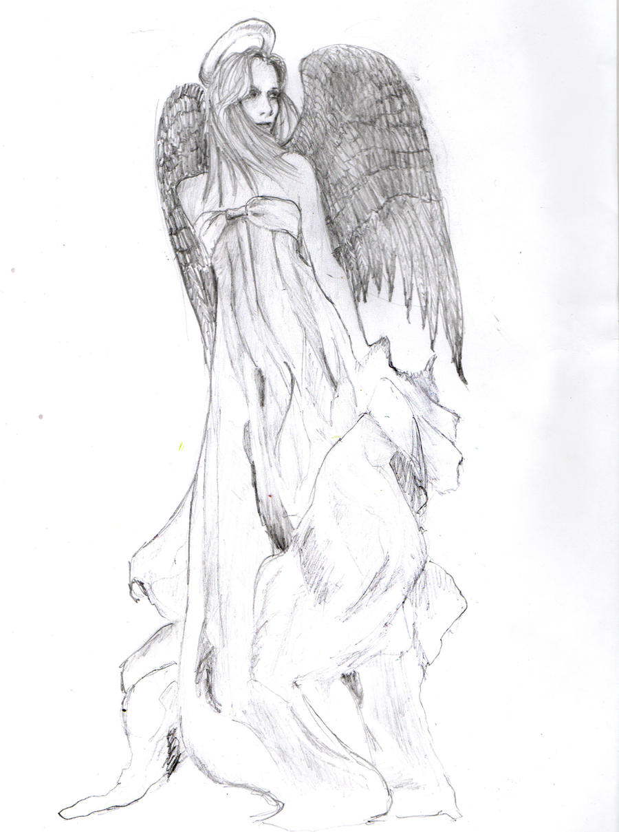 guardian angel tattoo design by chazofearth on DeviantArt
