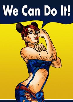 Jolyne We Can Do It Feminist Poster [ver 2.0]