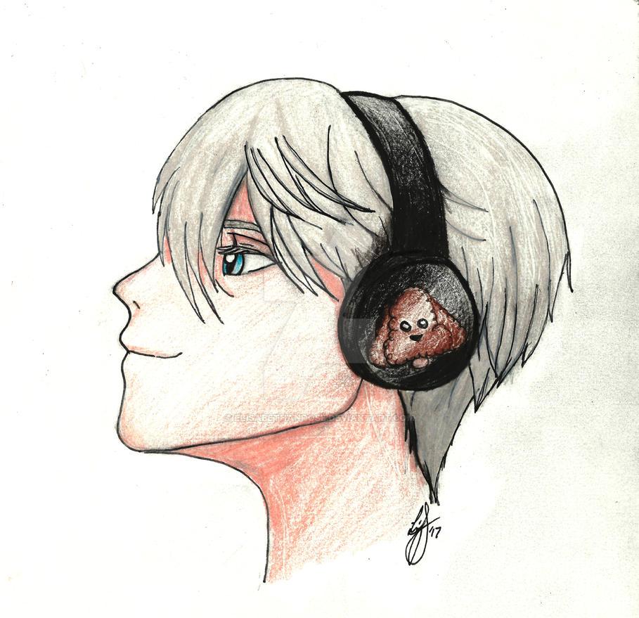 Victor headphones colour by elisabethanrose