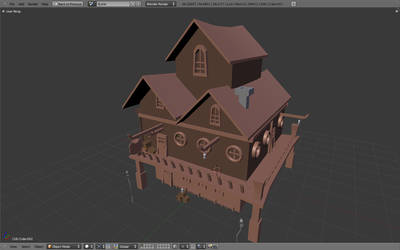 Low-poly tavern for FM - wip by betasector