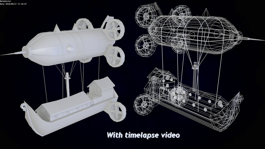 Zeppelin + timelapse vid by betasector