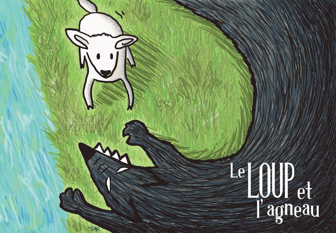 Fable2 le loup et l agneau by boivinette on deviantart - Dessin loup et agneau ...