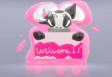 welcome to DA! by caramelthepup