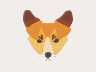 low poly fox by caramelthepup
