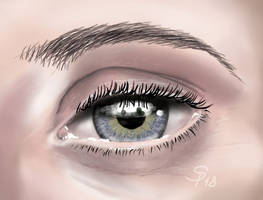 Daily: Blue eye closeup by steffchep
