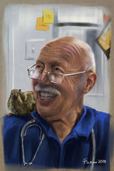 Portrait Study: The Incredible Dr. Pol by steffchep