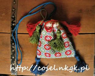 Embroidered purse XIV-XV c. Germany by tatsu-sachiko