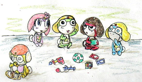 [Cartoon] ขอรูปเคโรโระตอนสมัยเด็กของทุกคน Chibi_Kero_tachi_plus_Pururu_by_Windymon