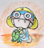 Zeroro and his turtle by Windymon