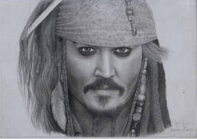 Captain Jack Sparrow - 7th drawing - 3/20/2013 by Jeroen88