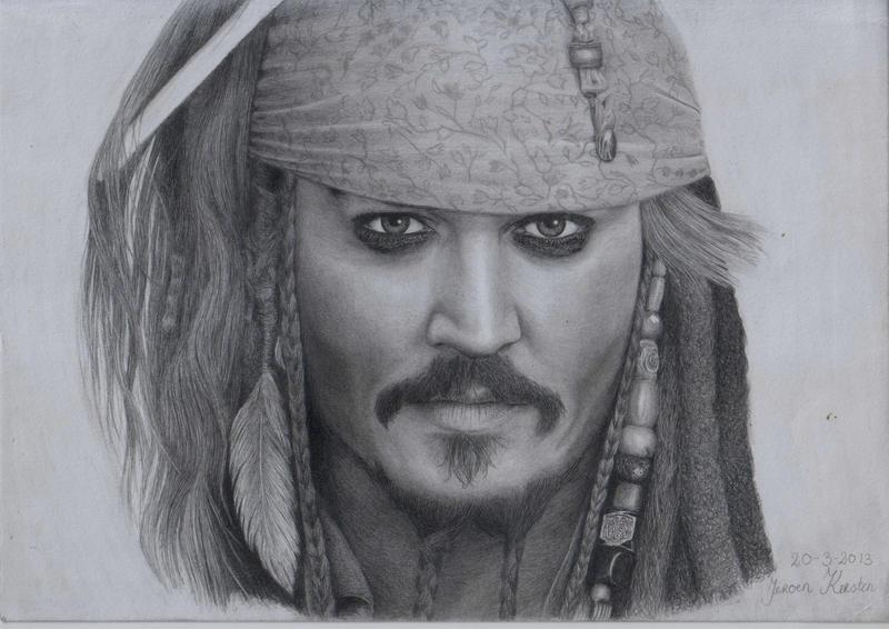 Jack Sparrow Drawing Simple