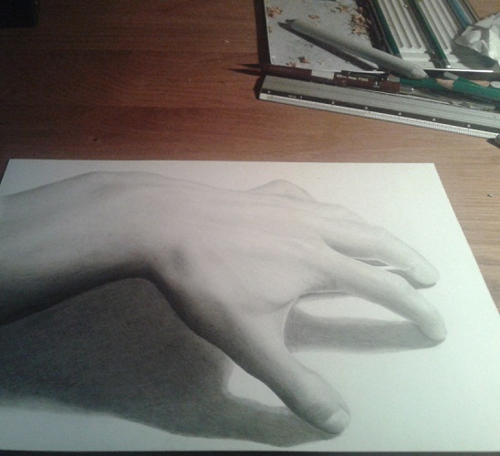 3d Line Drawing Hand : D hand by jeroen on deviantart