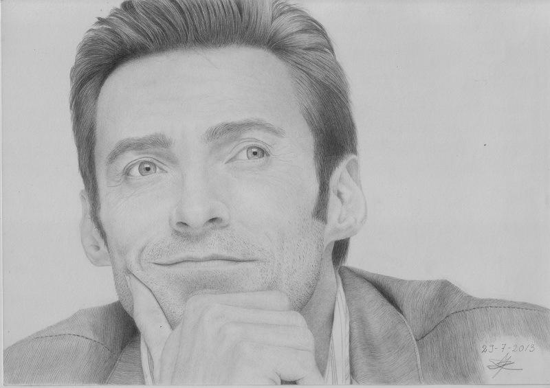 Image result for hugh jackman drawing