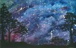 Midnight Stroll on a Starry Night
