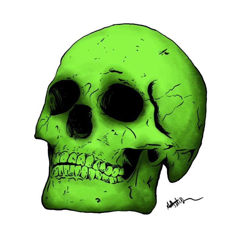 radioactive skull by wavematt on deviantart