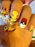Pikachu Pokeball Nails