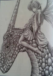 Fairy on his dragon