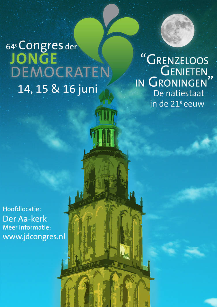 Poster for Jonge Democraten Congres by Daan1302