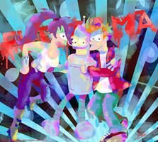Futurama: BFF! by MissNeens