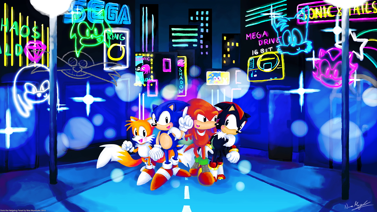 Sonic vs tails knuckles shadow games