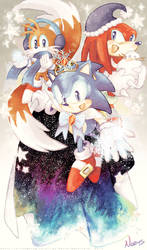 Sonic's Winter Dream by MissNeens