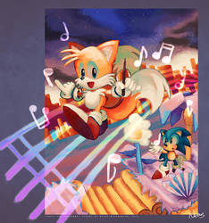 Tails and the Music Maker by MissNeens