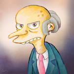 Grumpy Mr. Burns portrait by MissNeens