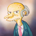 Grumpy Mr. Burns portrait