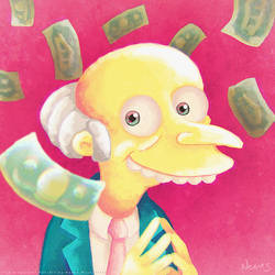 Mr. Burns Portrait (Speed Painting) by MissNeens