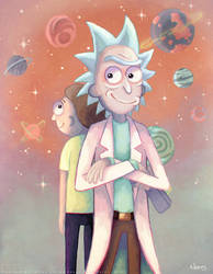 A hundred Years Rick and Morty