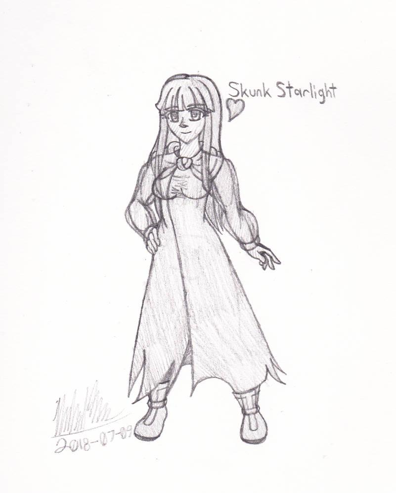 [OC-Drawing] Skunk Starlight by ZanZanryu