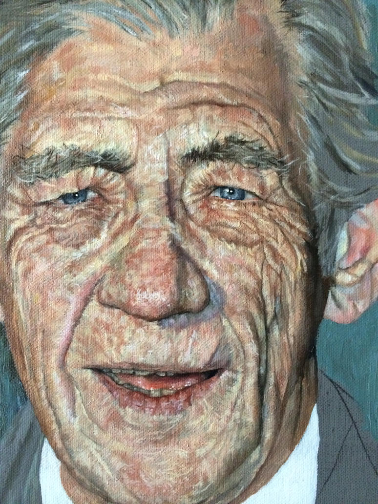 Work in Progress Painting of Sir Ian Mckellen by JK-i-D