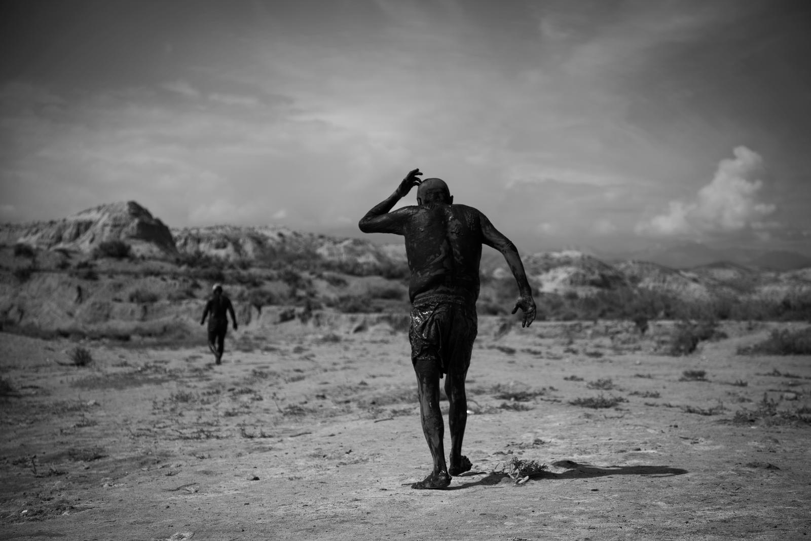 -TIMELESS- Mud Men in Kyrgyzstan Salt Lake by yavuzozer