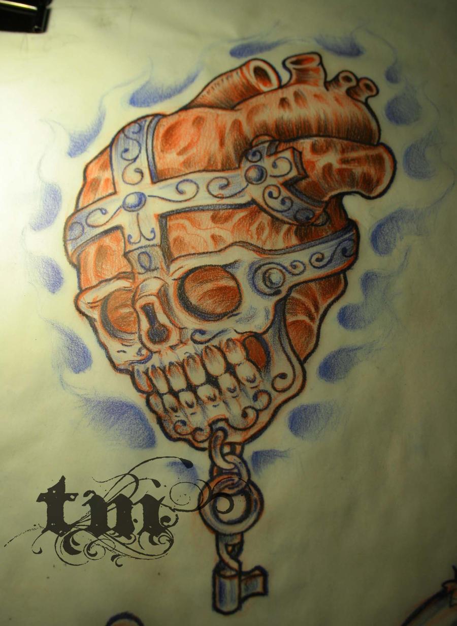 skullheart by grinderbird