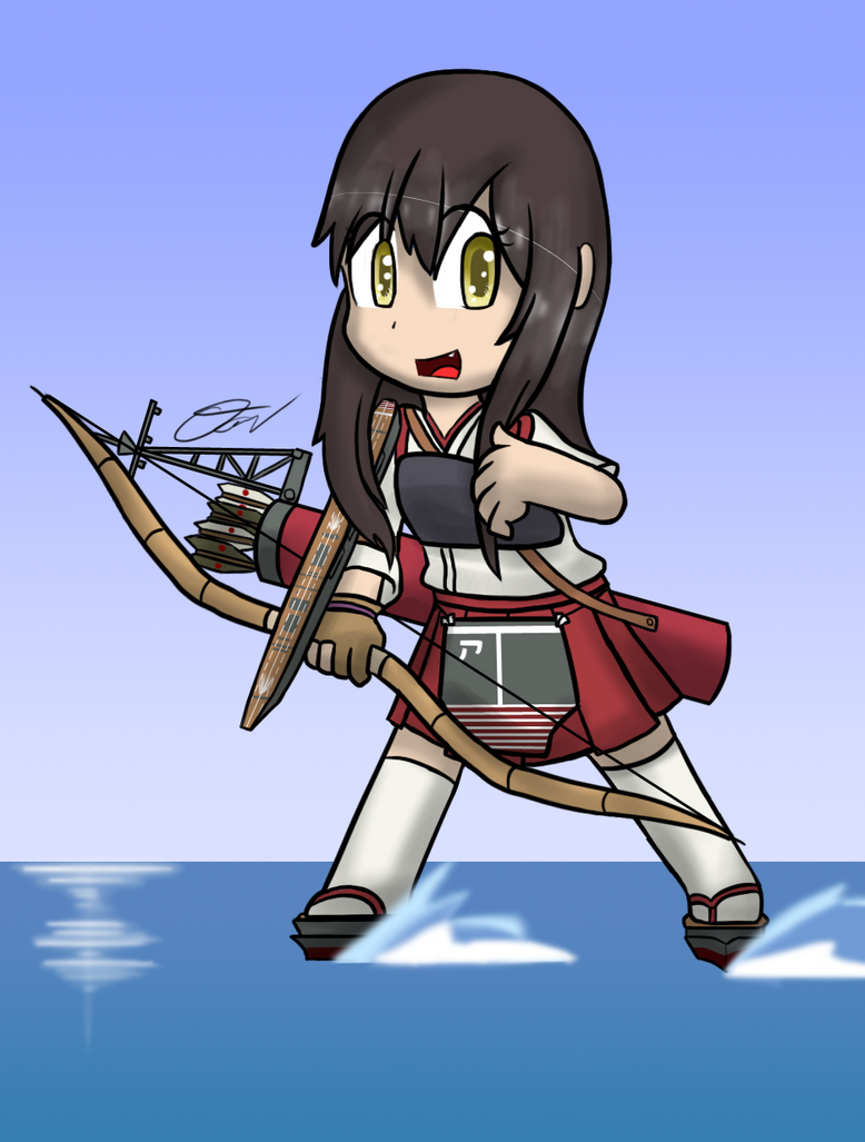 Kantai Collection - Chibi Akagi by Tukari-G3