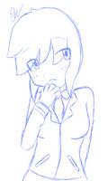Digital Sketch - School Girl