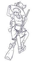 Digital sketch - Tukari Witch adventures by Tukari-G3